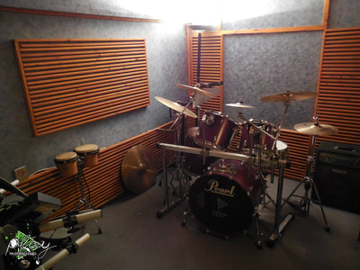 The second recording room of the studio. The name is Live room 2