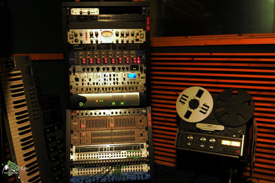 The rack. outboard recording studio equipment